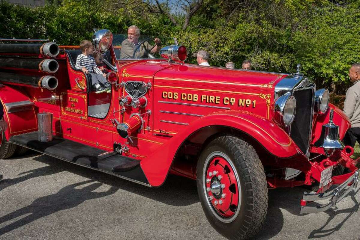 A restored 1935 American LaFrance fire engine that was originally in service in Cos Cob from 1935 to 1963 will be returning to the Cos Cob Volunteer Fire Department. It will be on display at the Greenwich Concours d'Elegance this weekend. The truck's owner, who displayed it in his office lobby in California for decades, has gifted it to the Cos Cob Volunteer Fire Department.