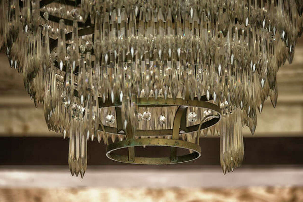 A chandelier from the Goldenrod's opulent interior.