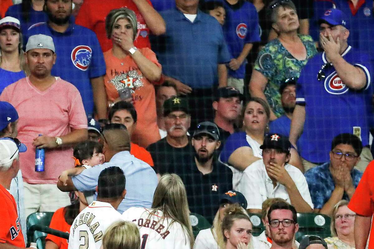 Concern for a young fan hit by a foul ball Wednesday was evident on the faces of fans at Minute Maid Park and also touched a nerve for many Astros players in the dugout and on the field.