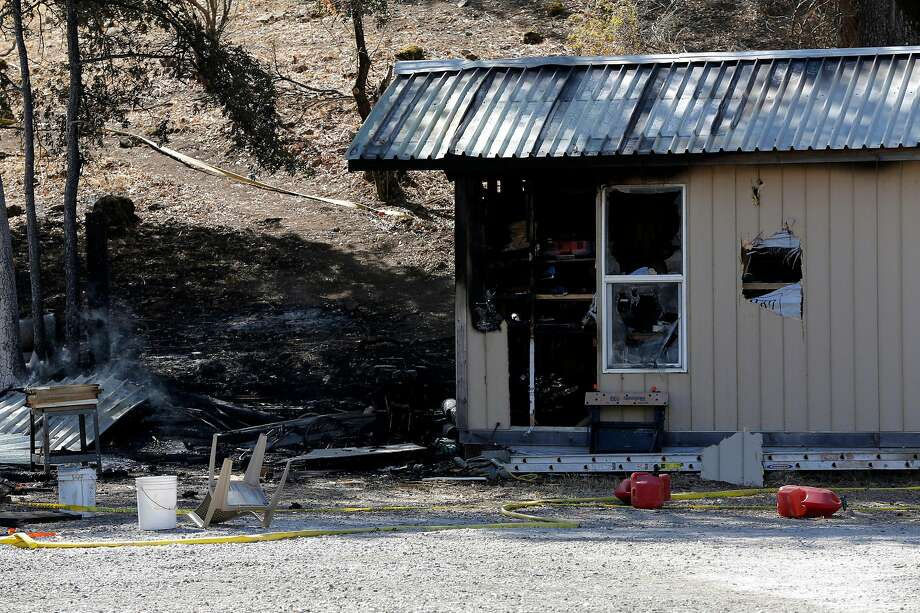 The charred remains of a shed in Cobb, California, on Tuesday, Sept. 15, 2015. Photo: Connor Radnovich / The Chronicle