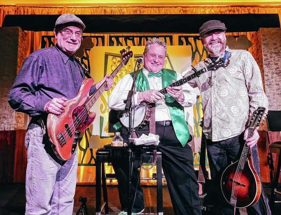 "With a history dating back millenia, it could be argued that Celtic music is the true ""rock of ages"". Nashville, Tennessee-based Irish-American-folk band Def Leprechaun continues that Celtic music tradition by kicking off Jacksonville Main Street's 2019 Downtown Concert Series with a performance at 6 p.m. Friday on the downtown Jacksonville square. The band features Larry Kernagis (center) on bango and lead vocals, Don McGinnis (left) on base and vocals and Zane Baxter on lead guitar, other stringed instruments and vocals. Their music blends folk and favorite old Irish tunes. The after party for Friday's free concert will be at The HandleBar, just off the square on South Main. Photo: Handout Photo"