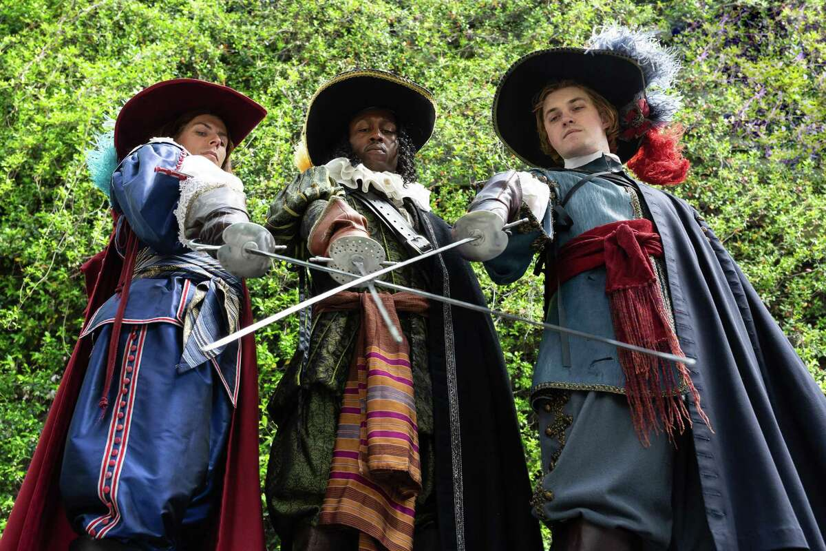 """The cast of Alley Theatre's """"The Three Musketeers"""""""