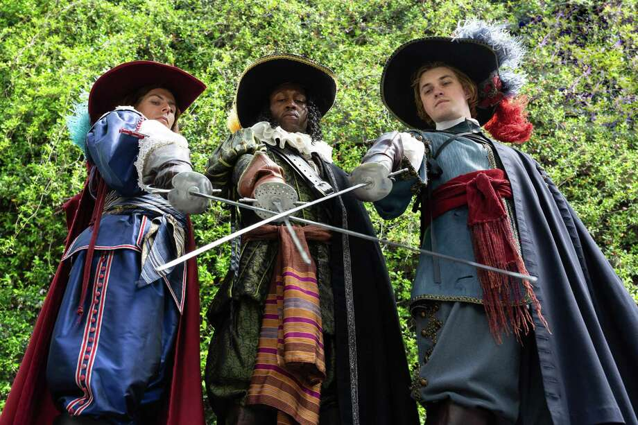 """The cast of Alley Theatre's """"The Three Musketeers"""" Photo: Lynn Lane"""