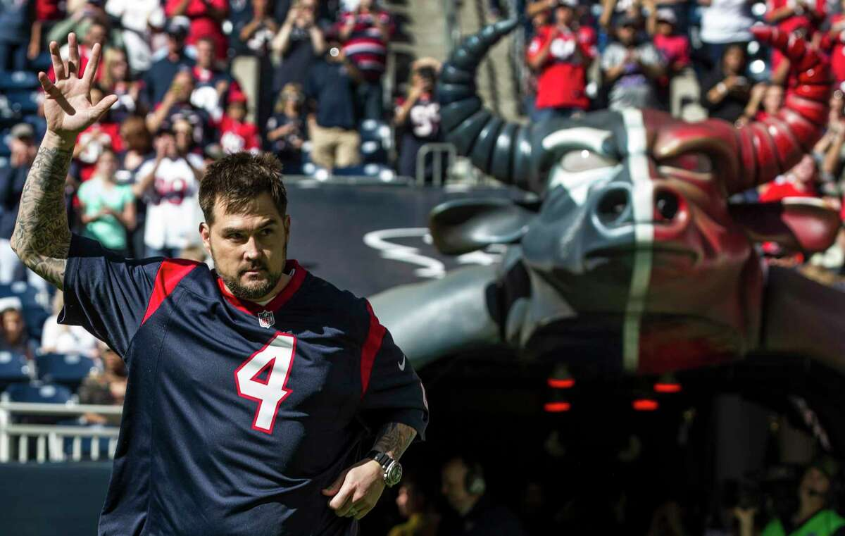 PHOTOS: May 29 - Texans OTAs Former Navy Seal Marcus Luttrell is introduced before an NFL football game between the Houston Texans and the Cincinnati Bengals at NRG Stadium on Sunday, Nov. 23, 2014, in Houston. >>>See photos from the Houston Texans' OTAs on Wednesday, May 29, 2019 ...
