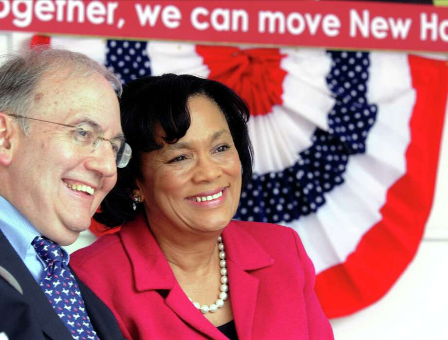 New Haven Mayor Toni Harp with state Sen. Martin Looney. Photo: File Photo