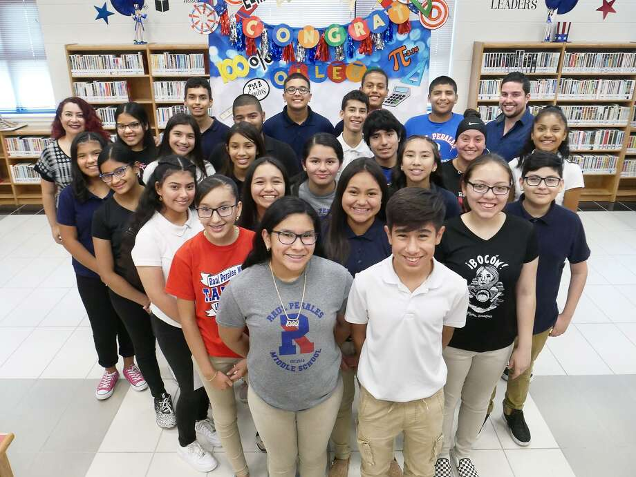 Eighth-grade Algebra I students at Raul Perales Middle School set a precedent at United ISD as they were the district's only school to have all its eighth-grade Algebra students pass the End of Course (EOC) with a masters score. The EOC is a state-mandated standardized assessment required for high school graduation. Photo: Cuate Santos / Laredo Morning Times / Laredo Morning Times