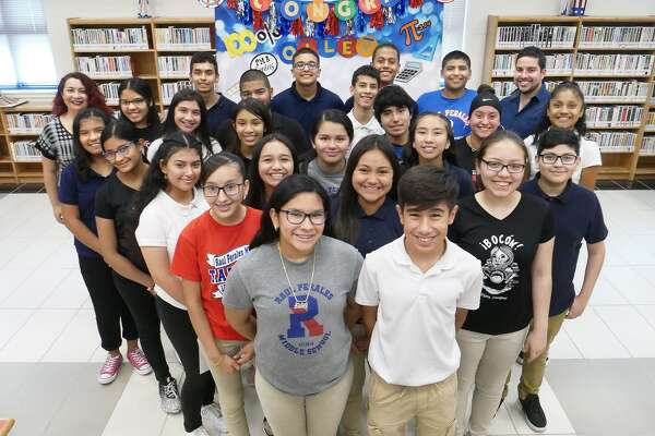 Eighth-grade Algebra I students at Raul Perales Middle School set a precedent at United ISD as they were the district's only school to have all its eighth-grade Algebra students pass the End of Course (EOC) with a masters score. The EOC is a state-mandated standardized assessment required for high school graduation.