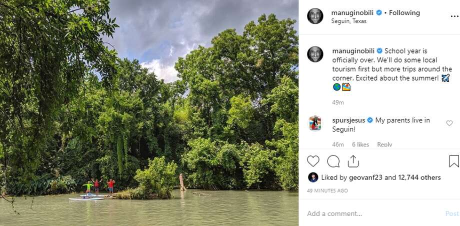 manuginobili: School year is officially over. We'll do some local tourism first but more trips around the corner. Excited about the summer! Photo: Instagram Screengrab