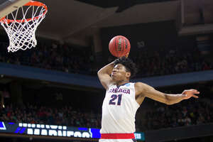 Born in Toyoma, Japan, 21-year-old Rui Hachimura played three seasons at Gonzaga, he went from a freshman bench warmer to a second-team All-American to a possible NBA lottery draft pick. Read more about him here.