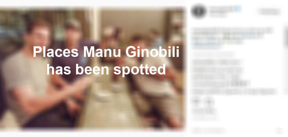 Spots Manu Ginobili has been seen around San Antonio Photo: MySA Staff