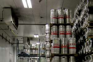 Inside of one of the units that store kegs of beer at the Decrescente distribution center in Mechanicville on Thursday, July 7, 2011. (Erin Colligan / Special To The Times Union)