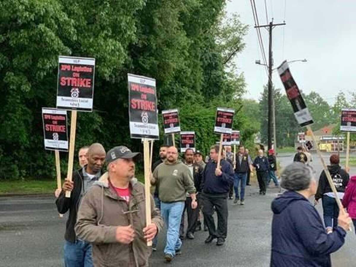 About a dozen workers at an XPO Logistics facility in North Haven, Conn., walked out the morning of Thursday, May 30, 2019, to protest allegedly unfair labor practices.