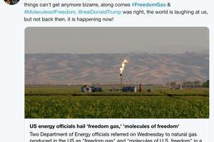 """Twitter responds to the Trump administration's rebranding of natural gas as """"freedom gas."""""""