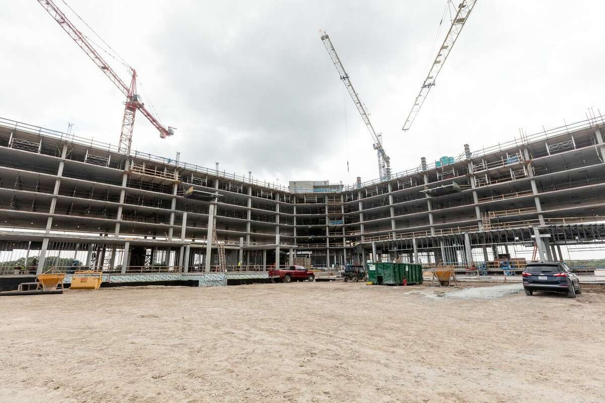 A photo of the progress the construction team has made at the Kalahari Resorts and Conventions in Round Rock.