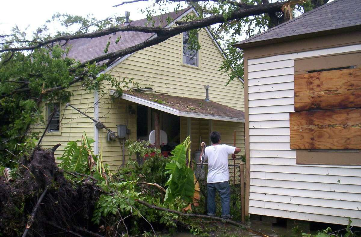 In the event of a hurricane, maintain six feet of distance when checking on neighbors or friends.