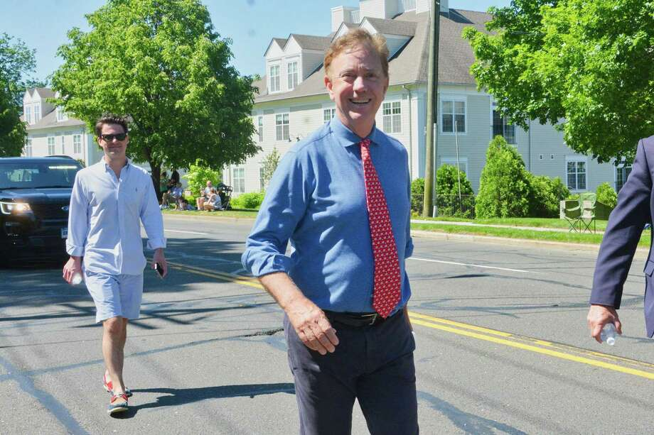 Governor Ned Lamont walks in Norwalk's Memorial Day parade, in Norwalk, Conn. May 27, 2019. Photo: Vic Eng / For Hearst Connecticut Media / Hearst Connecticut Media Freelance