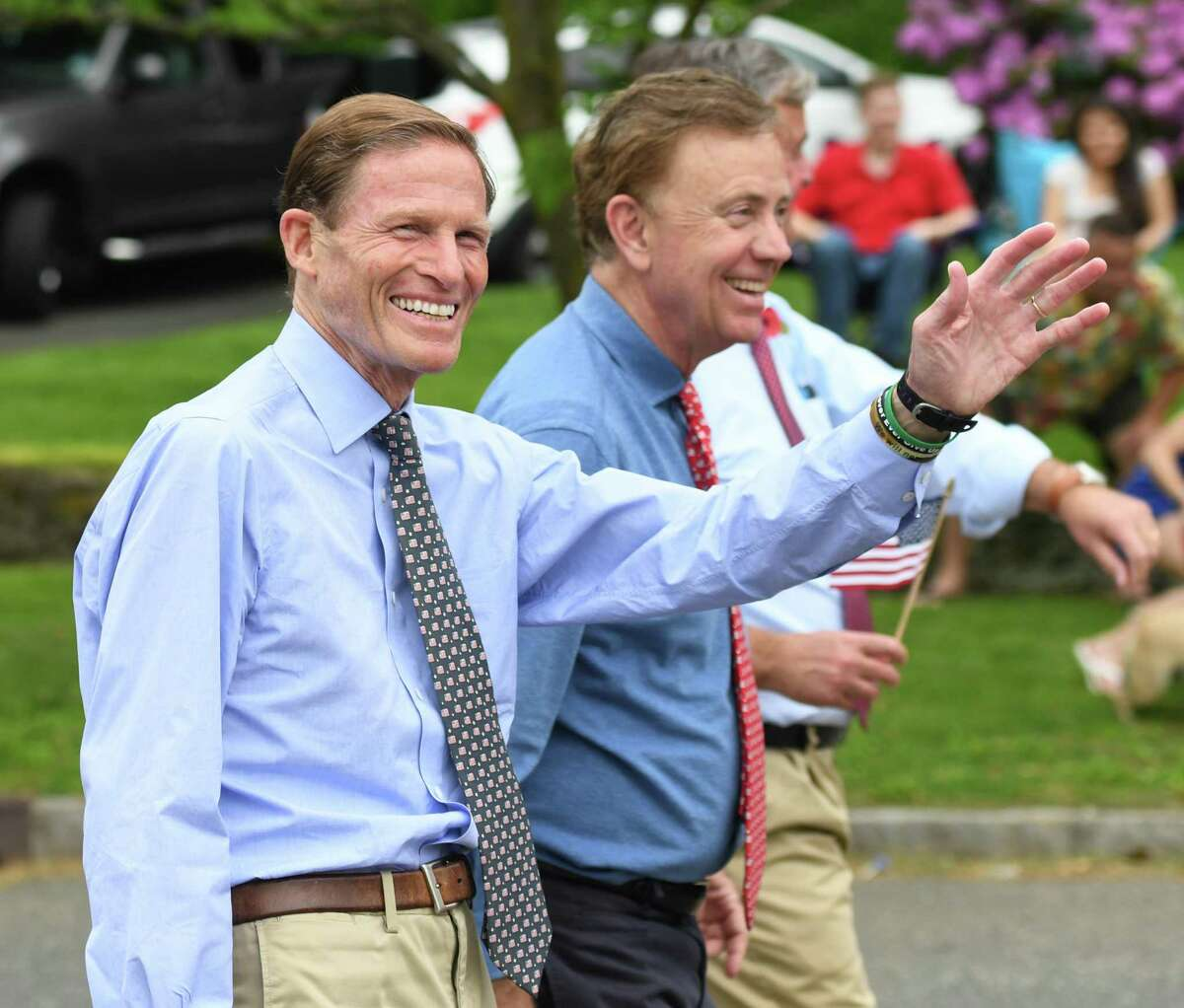 Photos from the annual Memorial Day Parade in the Glenville section of Greenwich, Conn. Sunday, May 26, 2019. The parade and ceremony, hosted by the Ninth District Veterans Association and the Glenville Volunteer Fire Co., was attended by Connecticut Gov. Ned Lamont, U.S. Sen. Richard Blumenthal, and local represntatives. U.S. Navy Air Force veteran Anthony William Muskus was presented with the Convoy Cup Certificate of Appreciation.