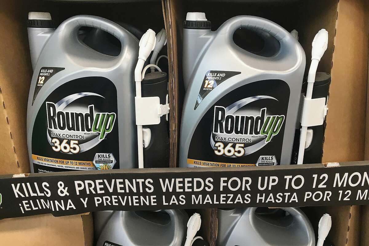 CHICAGO, ILLINOIS - MAY 14: Roundup weed killing products are offered for sale at a home improvement store on May 14, 2019 in Chicago, Illinois. A jury yesterday ordered Monsanto, the maker of Roundup, to pay a California couple more than $2 billion in damages after finding that the weed killer had caused their cancer. This is the third jury to find Roundup had caused cancer since Bayer purchased Monsanto about a year ago. Bayer's stock price has fallen more than 40 percent since the takeover. (Photo by Scott Olson/Getty Images)