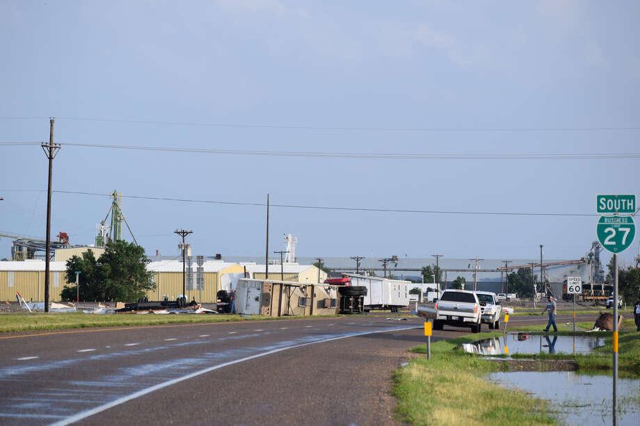 Tornadic activity wreaked havoc in Plainview Saturday afternoon. Photo: Ellysa Harris/Plainview Herald