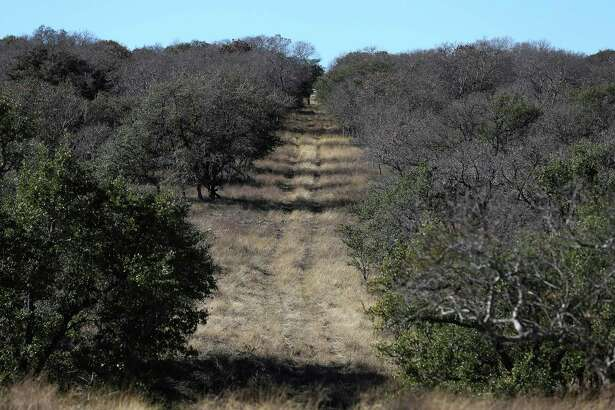 The clearing for an old, not longer in operation pipeline can be seen on the historic Hershey Ranch in Stonewall. Kinder Morgan wants to build a 42-inch natural gas pipeline south of Fredericksburg, Texas and that has alarmed land owners, small and large, that a large, 42-inch diameter natural gas pipeline will intrude onto their properties. The impending construction and potential dangers of having such a pipeline on their land have some concerned about the environmental impact such a pipeline will have in the surrounding area. (Kin Man Hui/San Antonio Express-News)