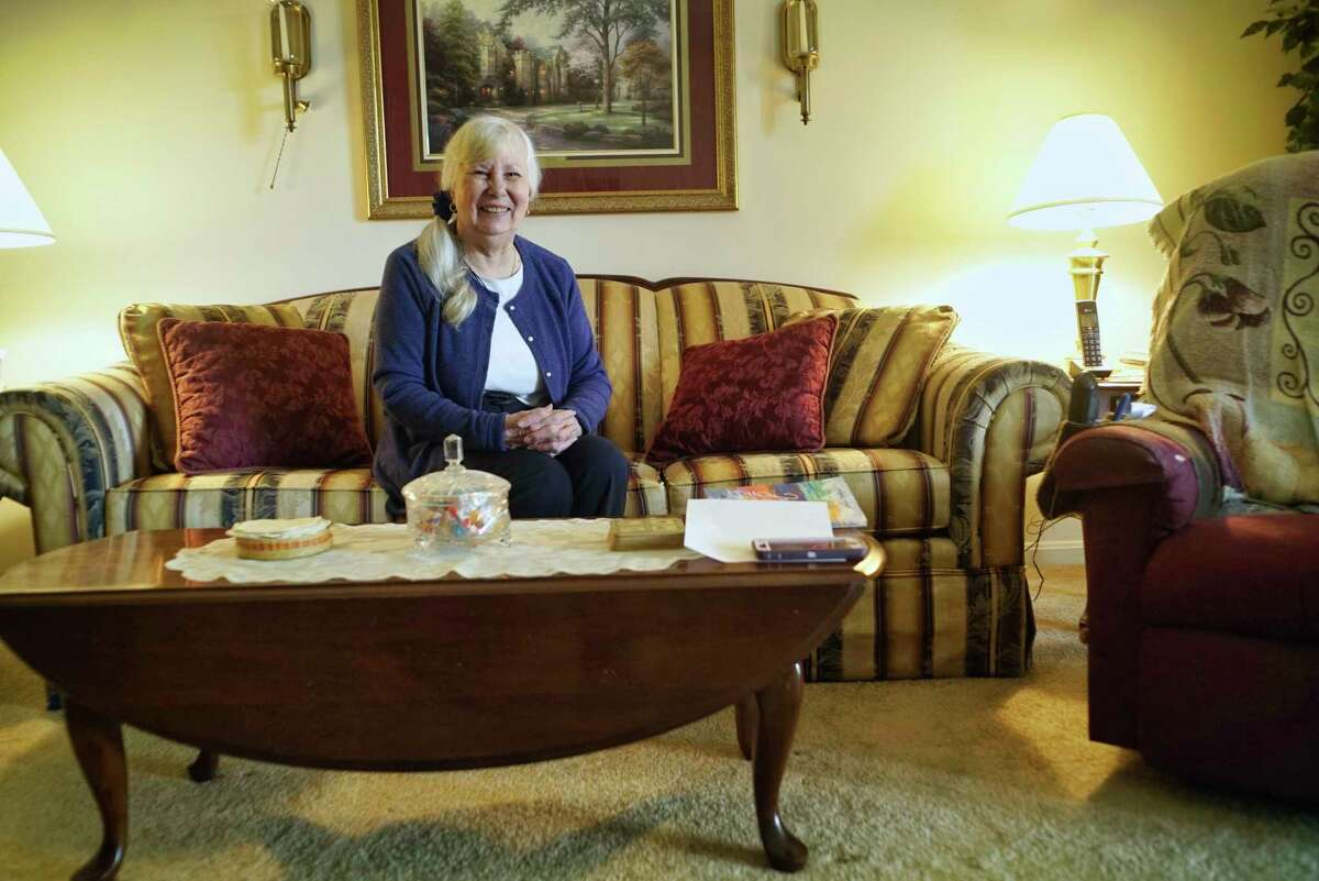 Helen Graves poses for a photo in her apartment on Thursday, May 30, 2019, at Rose Garden Court apartments, in Latham, N.Y. (Paul Buckowski/Times Union)