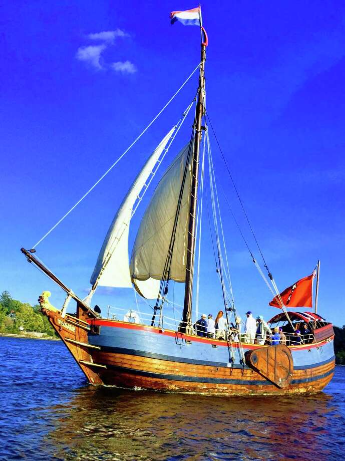 Through mid-October, The Connecticut River Museum hosts the Onrust, a re-creation of the vessel Adriaen Block built in 1614. Now in its 3rd year of gracing our docks, Onrust is available for public cruises as well as private charters. Photo: Contributed Photo