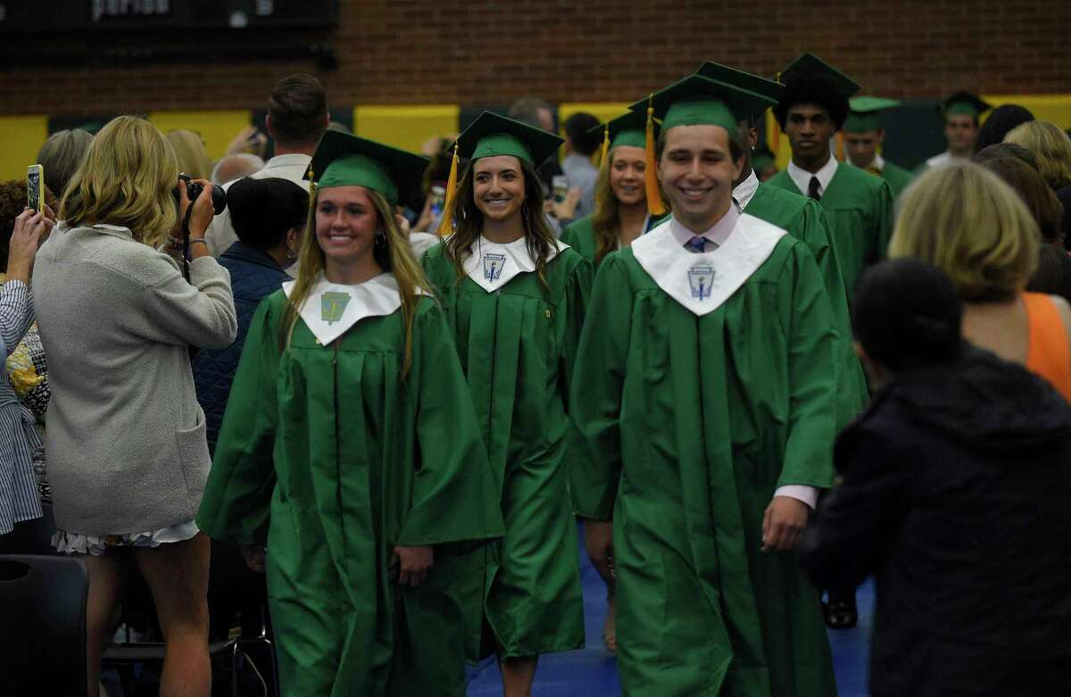 Trinity Catholic High School Class of 2019 commencement exercises on May 30, 2019 in Stamford, Connecticut.