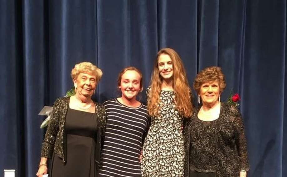The Middlesex Hospital Vocal Chords recently awarded two scholarships at their May 11 concert. Photo: Contributed Photo