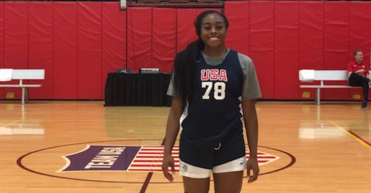 Erica Ogwumike competed in the U.S. Pan-American Games Trials.