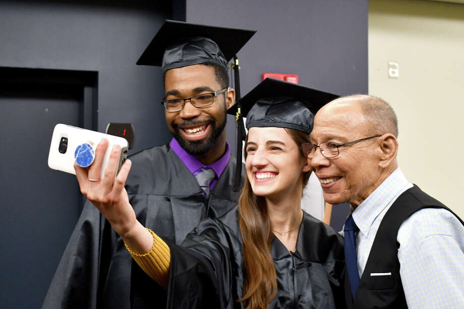 Northwestern Connecticut Community College's 53rd Commencement was held Thursday at the Warner Theatre, presided by President Michael Rooke, Ph.D. The Commencement Address was given by Kevin Noblet of Barkhamsted Photo: Lara Green- Kazlauskas/ Hearst Media