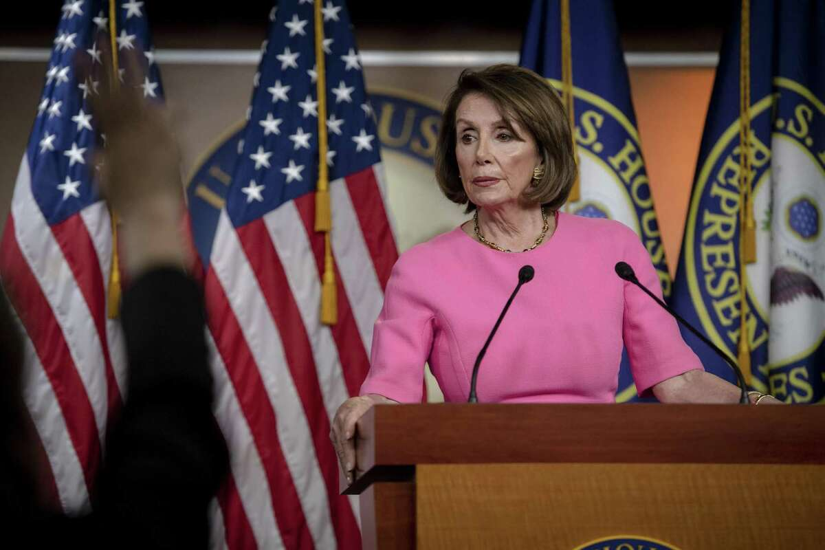 FILE -- House Speaker Nancy Pelosi (D-Calif.) speaks at a news conference on Capitol Hill in Washington, May 23, 2019. Pelosi on May 29 strongly rebuked Facebook, saying the company's refusal to take down an altered video of her demonstrated how the social network contributed to misinformation and enabled Russian interference in the 2016 presidential election. (Hilary Swift/The New York Times)