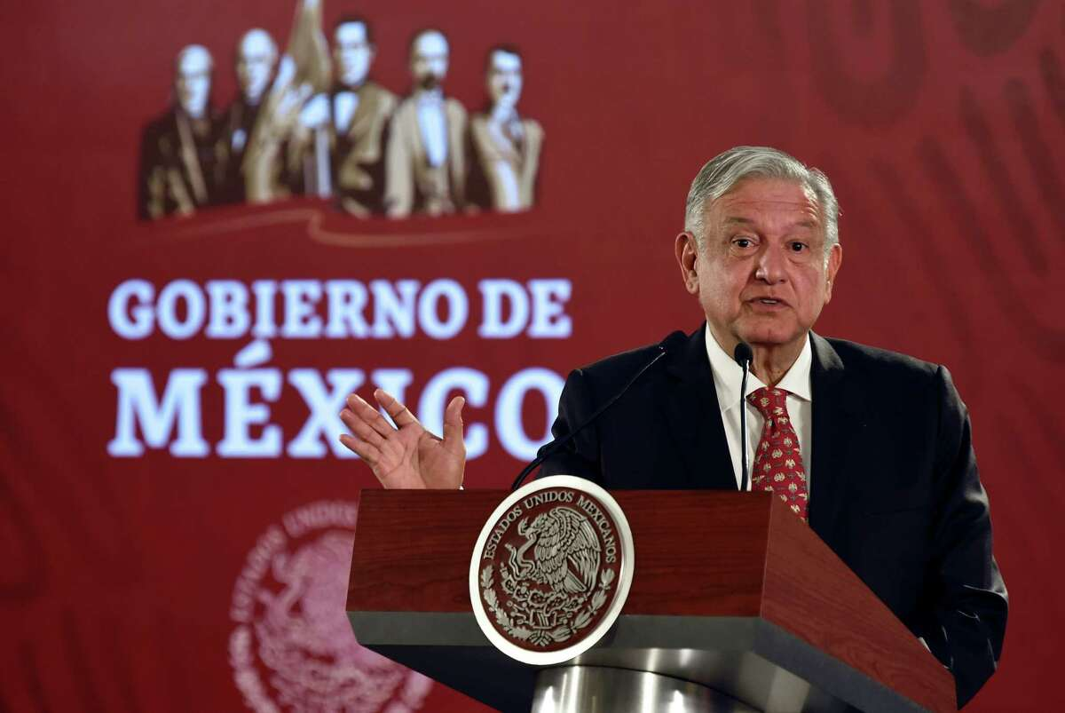 Mexican President Andres Manuel Lopez Obrador offers a press conference at the National Palace in Mexico City on May 29, 2019. - President Lopez Obrador is expected to meet IMF chief Christine Lagarde later today. (Photo by Alfredo ESTRELLA / AFP)ALFREDO ESTRELLA/AFP/Getty Images