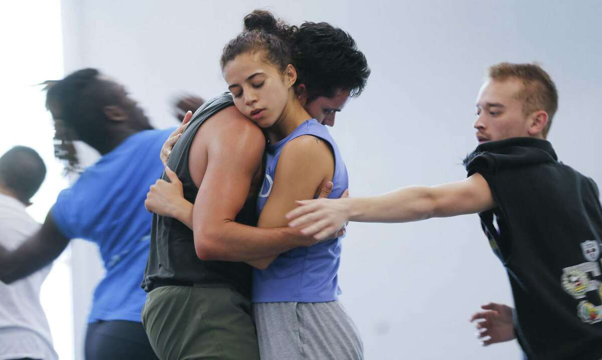 METdance performers, including SinClair Davis and Dwain Travis, rehearse on Tuesday, May 28, 2019 in Houston. The company, which is the second-largest professional dance company and school in Houston, is being evicted from their current studio.