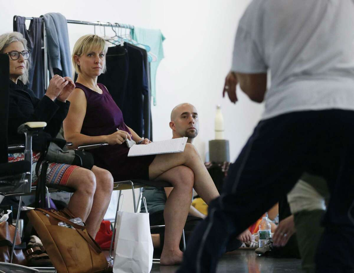 METdance artistic director Marlana Doyle watches rehearsal on Tuesday, May 28, 2019 in Houston. The company, which is the second-largest professional dance company and school in Houston, is being evicted from their current studio.