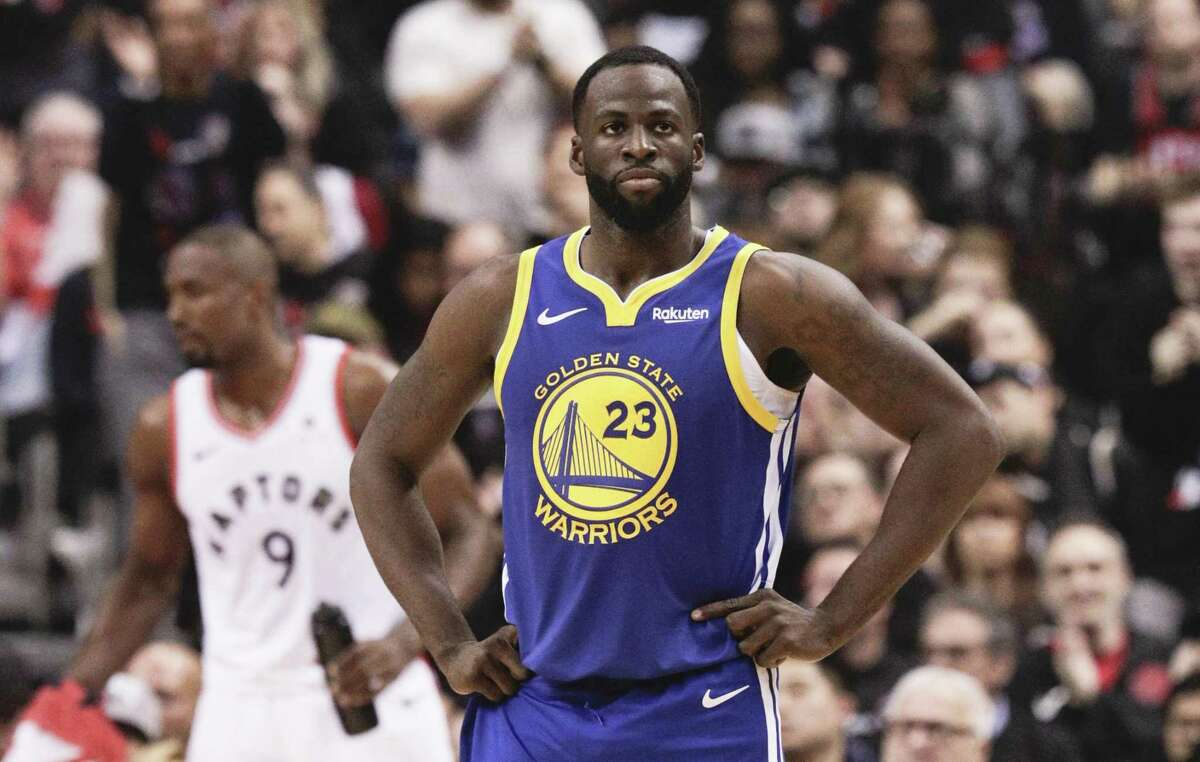 Golden State Warriors' Draymond Green is seen in the second quarter during game 1 of the NBA Finals between the Golden State Warriors and the Toronto Raptors at Scotiabank Arena on Thursday, May 30, 2019 in Toronto, Ontario, Canada.