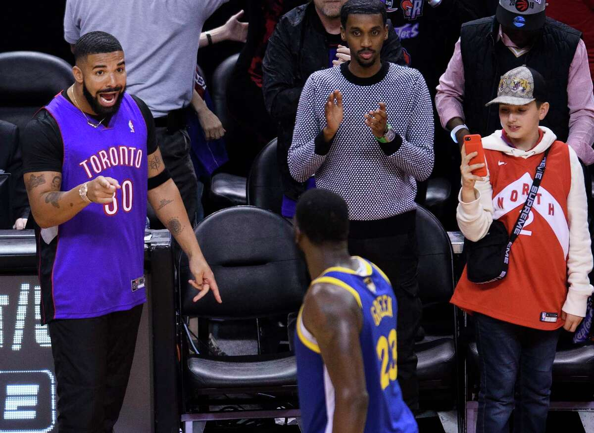 PHOTOS: Celebrities at Game 1 of the NBA Finals on Thursday night Rapper Drake, left,, says something to Golden State Warriors forward Draymond Green (23) after the Toronto Raptors defeated the Warriors in Game 1 of basketball's NBA Finals, Thursday, May 30, 2019, in Toronto. (Nathan Denette/The Canadian Press via AP) Browse through the photos above for a look at the celebrities at Game 1 of the Warriors-Raptors NBA Finals ...
