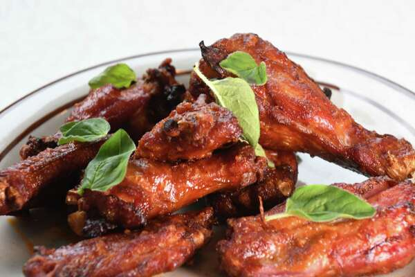 Nduja wings; spicy Jacuterie nduja, honey-brined Yellow Bell Farm chicken from the West Taghkanic Diner on Thursday, May 23, 2019, in Ancram, N.Y. (Will Waldron/Times Union)