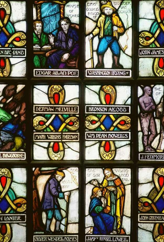 SPECTRUM/Stained-glass window at Lillis Adminstration Building in New Milford Photo: Norm Cummings, Norm Cummings/Spectrum / The News-Times