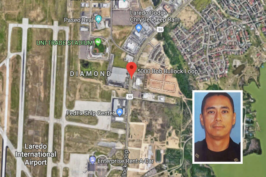 A UISD police officer died in a crash reported Wednesday night on Bob Bullock Loop by the entrance of Lake Casa Blanca International State Park, authorities said. Photo: Google Maps/Street View
