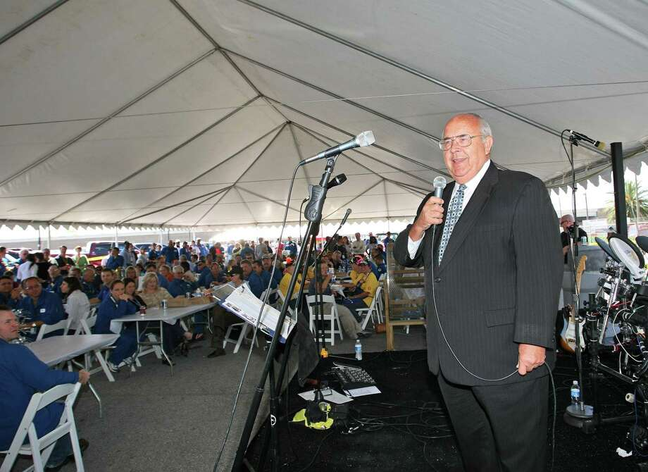 Wayne Riddle, shown addressing a 2008 gathering when he was Deer Park's mayor, is retiring from Wayne Riddle Insurance after 50 years in business. Riddle sold his agency to Harris County Insurance Center, which will continue the business in the same location. Photo: Kar Hlava / HCN Staff / HCN staff