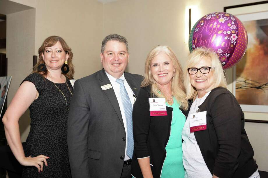 The first Katy Area Chamber of Commerce Business to Business (B2B) Expo featured 43 exhibitors and 200 attendees. From left are Jennifer Pierce, Michael Erskine, Vanessa Wheeless and Angie Thomason. Photo: Debi Beauregard / Debi Beauregard / Debi Beauregard