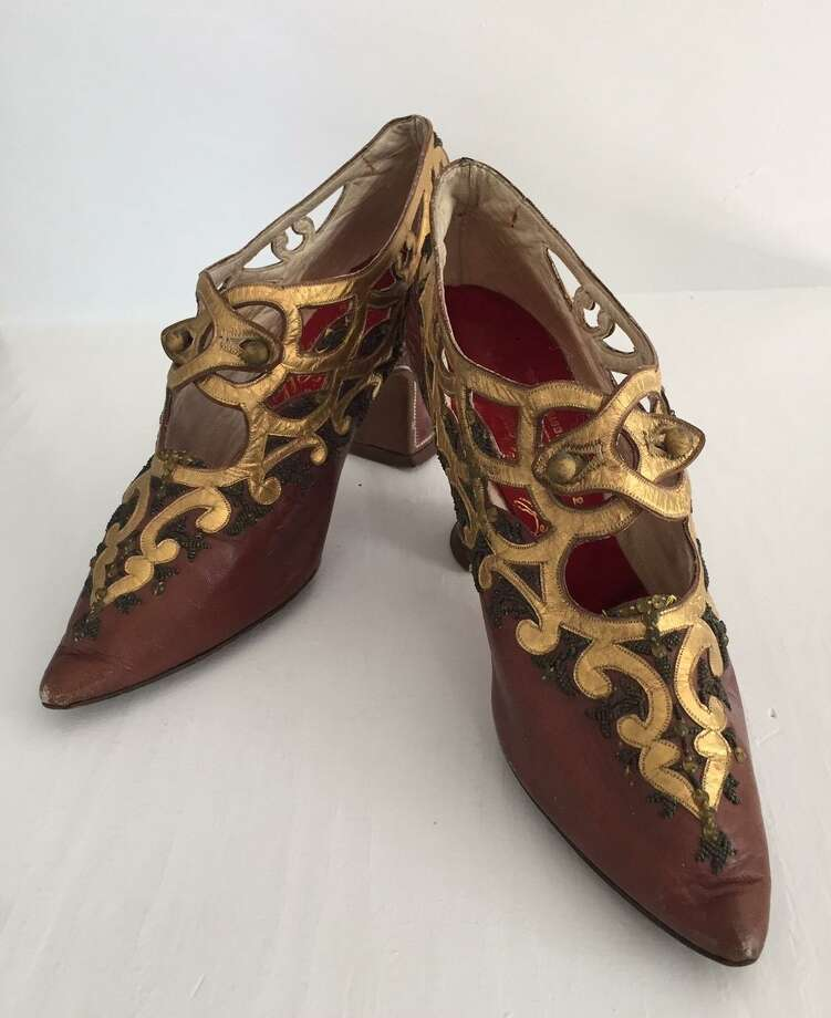 "The New Canaan Museum & Historical Society is hosting ""Shoes,"" an exhibit running June4-Sept. 21. Pictured are a pair of 1910-1911 pumps. Photo: New Canaan Museum & Historical Society / Contributed Photo"