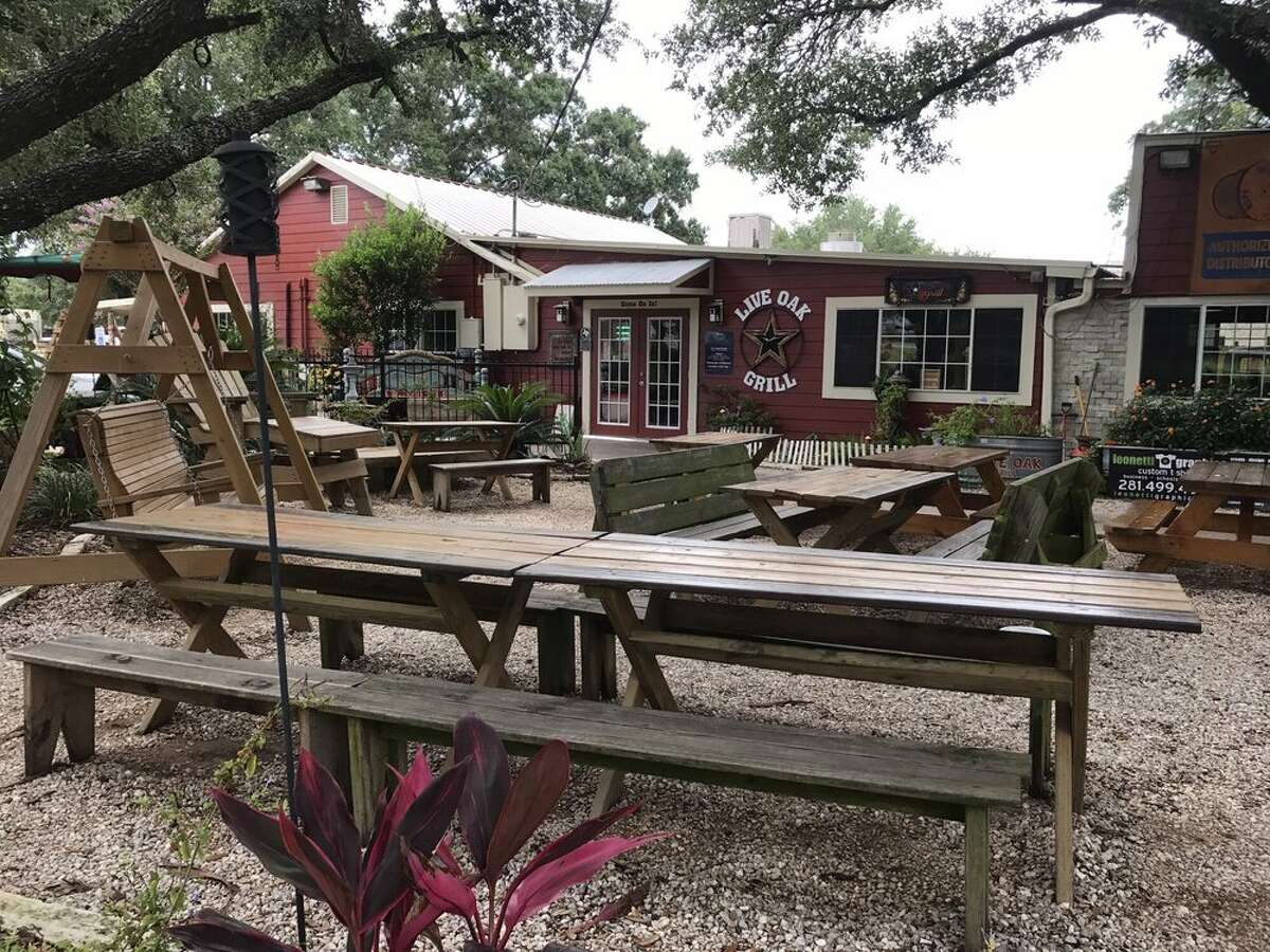 Live Oak GrillThe hidden neighborhood gem boasts plenty of patio seating as well as a kids playground in the back. Kids will have a blast exploring the fairy garden and unique trinkets at the front of the restaurant.12935 Dairy Ashford Road, Sugar Land Photo by: Dee M/Yelp
