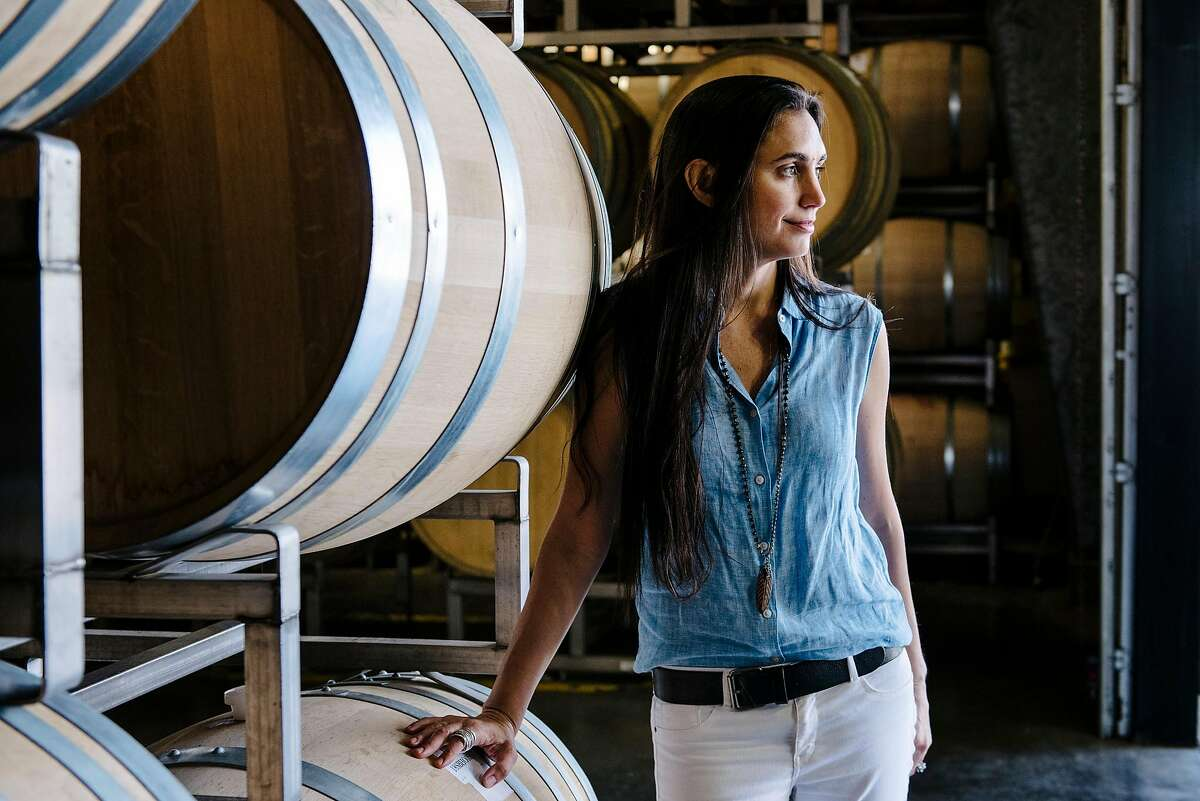 Stephanie Honig, president of the Napa Valley Cannabis Association, poses for a portrait at her family's Honig Vineyard & Winery in Rutherford, Calif, on Thursday, May 30, 2019. The Napa Valley Cannabis Association, which is pushing to legalize the commercial cultivation of cannabis in Napa County, this week got enough signatures on a petition to put the question on the ballot in 2020.