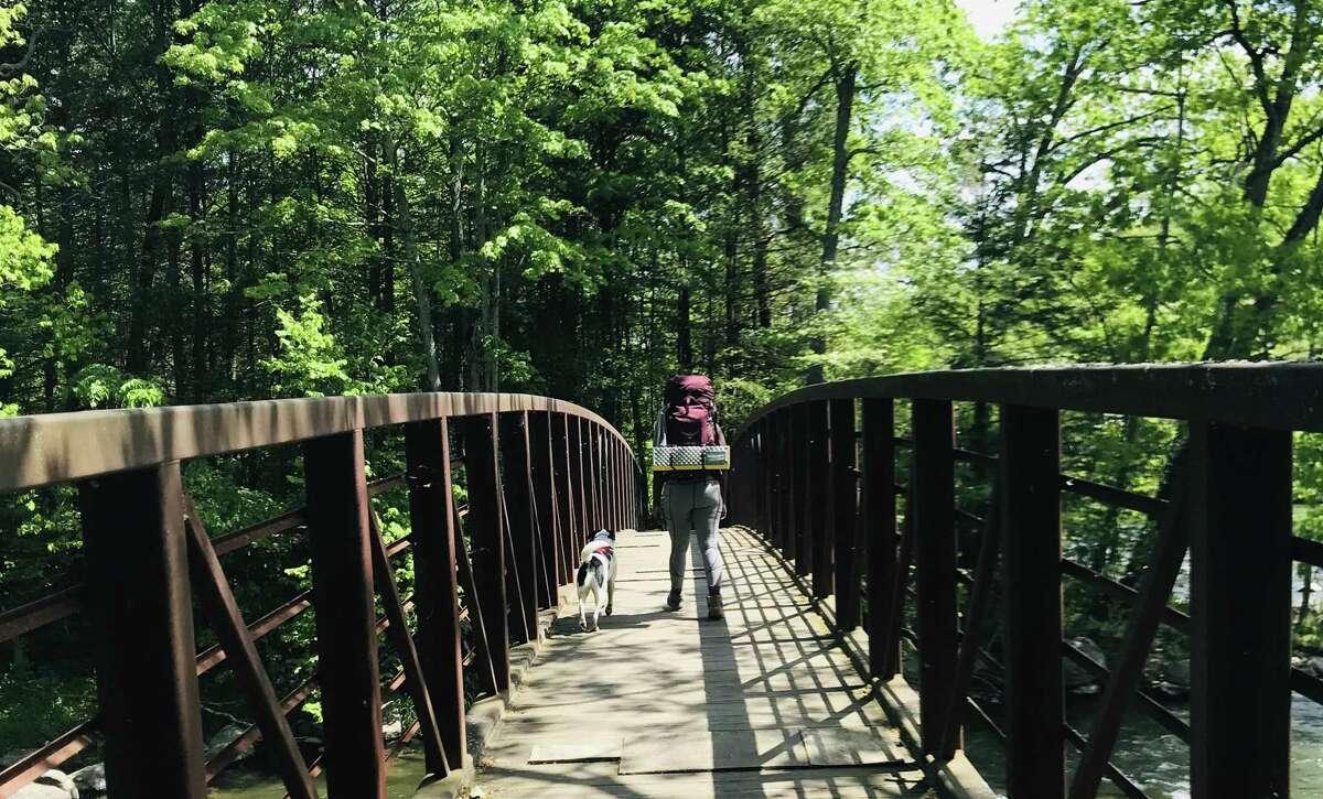 Hearst Columnist Mercy Quaye hiking the Appalachian Trail.