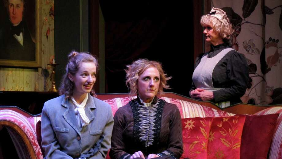 """From left,Kate McMorran, Molly Parker Myers and Lori Evans in """"The Moors"""" at Bridge Street Theatre. (BST publicity photo by John Sowle.) Photo: John Sowle, Bridge Street Theatre"""