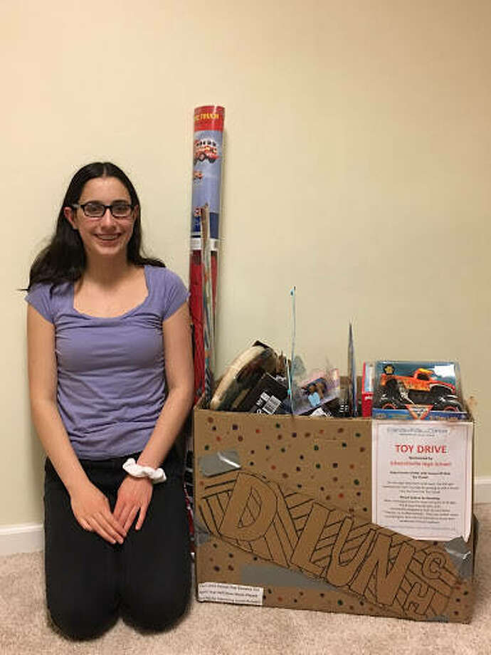 Edwardsville High School freshman Rachel Piazza, through the EHS Key Club, collected 47 toys for Friends of Kids with Cancer. Piazza led the fundraiser at the end of the school year to help build a supply of toys for the cancer organization to use throughout the summer until toy drives begin in the fall. Photo: For The Intelligencer