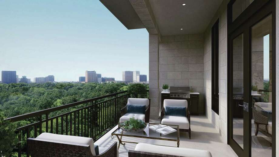 Units at The Revere at River Oaks include an outdoor balcony living space with gas grilling capabilities. (Photo courtesy of Sudhoff)