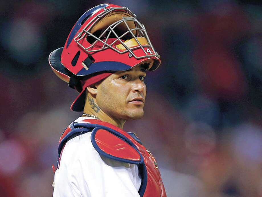 Cardinals catcher Yadier Molina has been placed on the 10-day Injured List, retroactive to May 29, because of a thumb injury. Photo: Billy Hurst File Photo | For The Telegraph