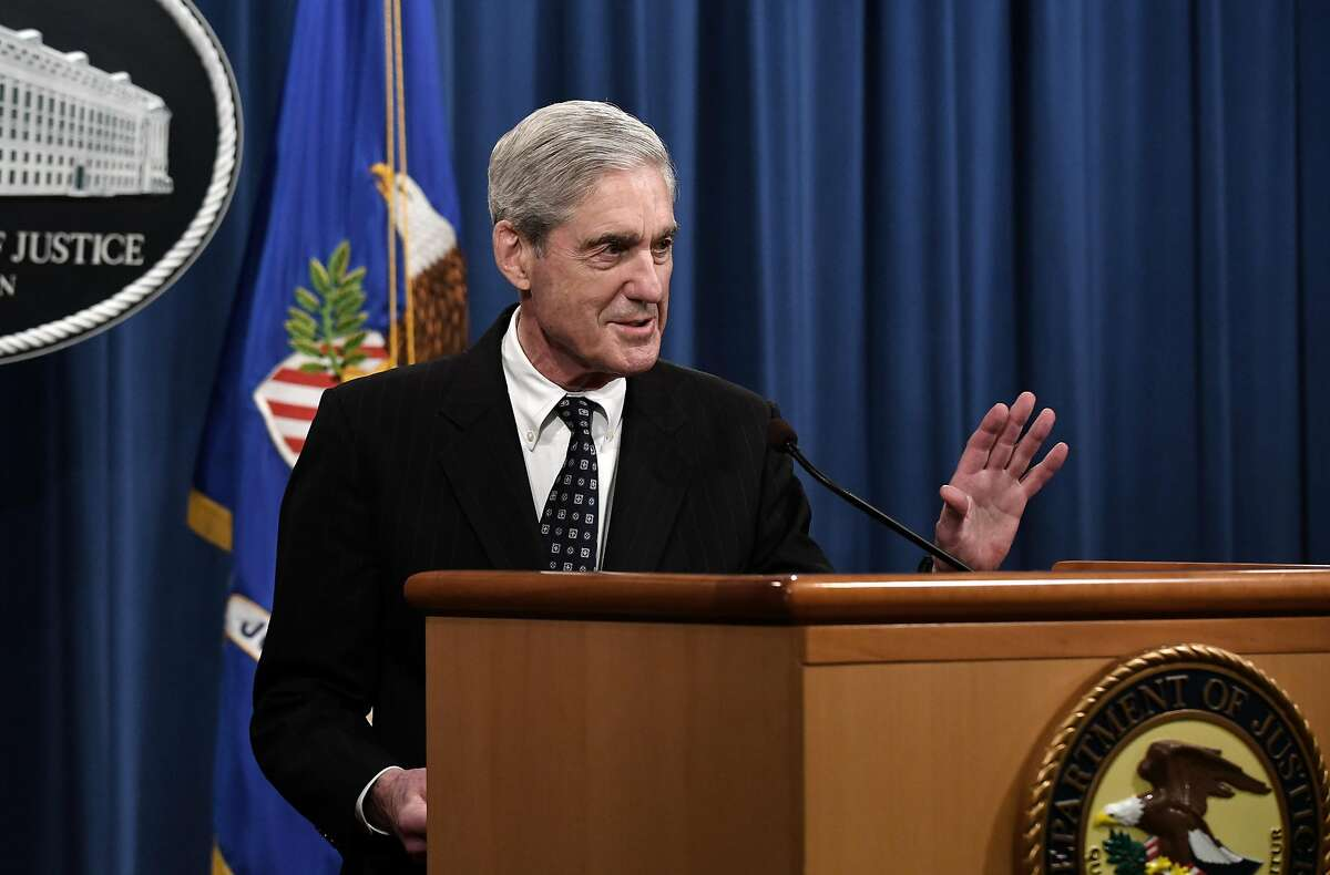 Special counsel Robert Mueller makes a statement about the investigation into Russian interference in the 2016 election at the Justice Department on May 29, 2019 in Washington, D.C. (Olivier Douliery/Abaca Press/TNS)